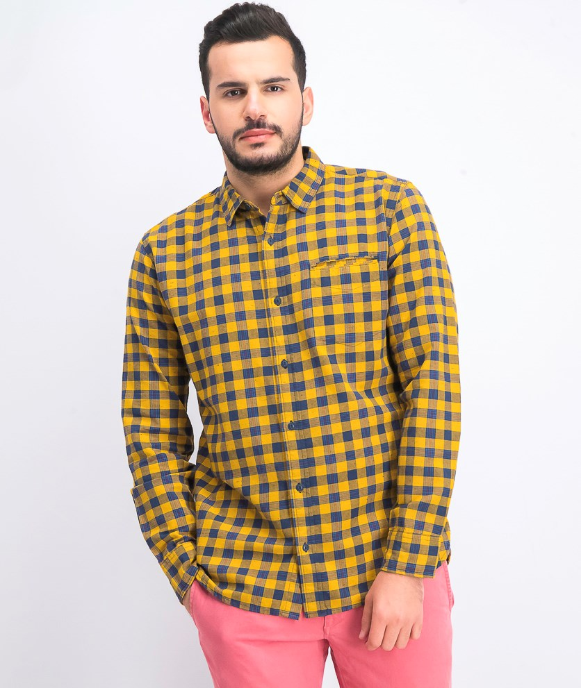 Men's Prato Plaid Oxford Shirt, Chai Tea