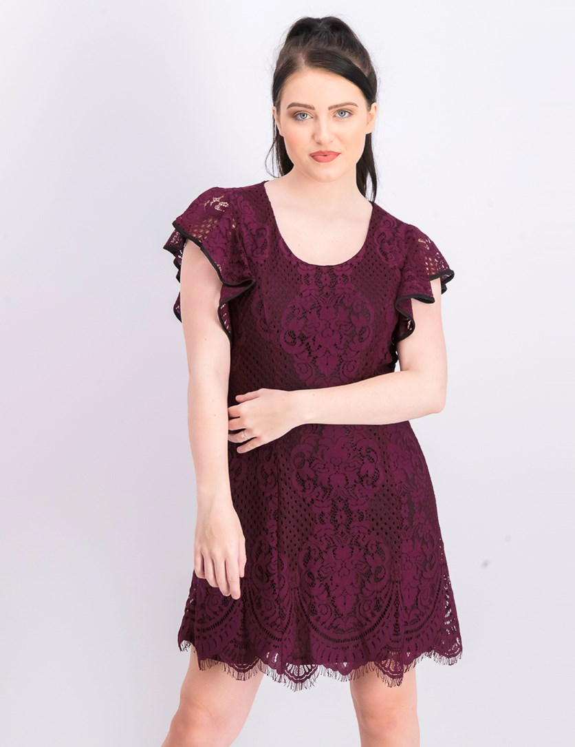 Women's Lace Dress, Plum