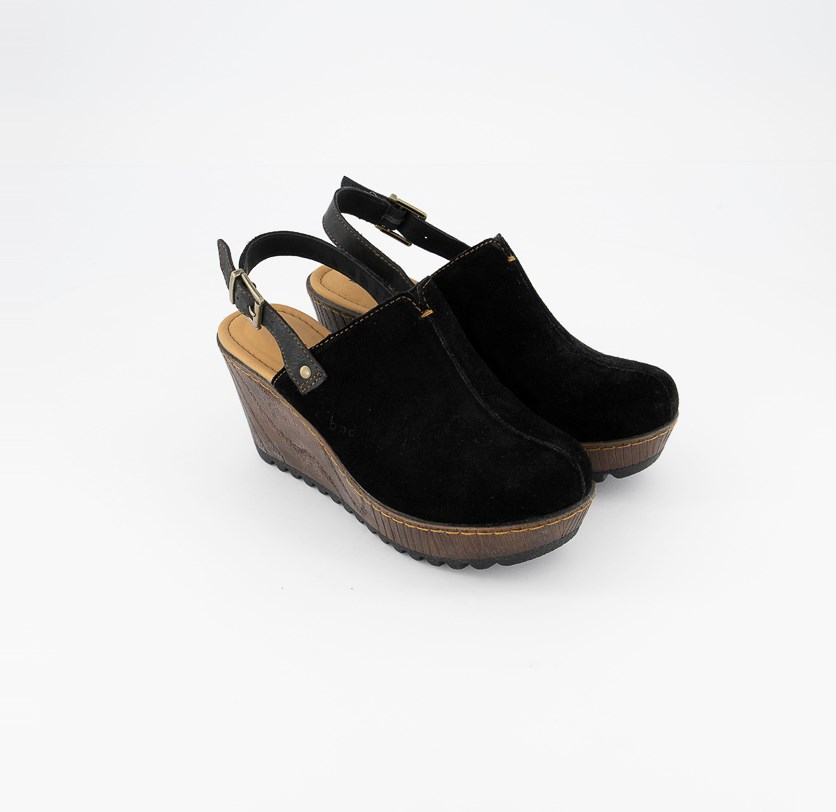 Women's May Wedge Sandals, Black