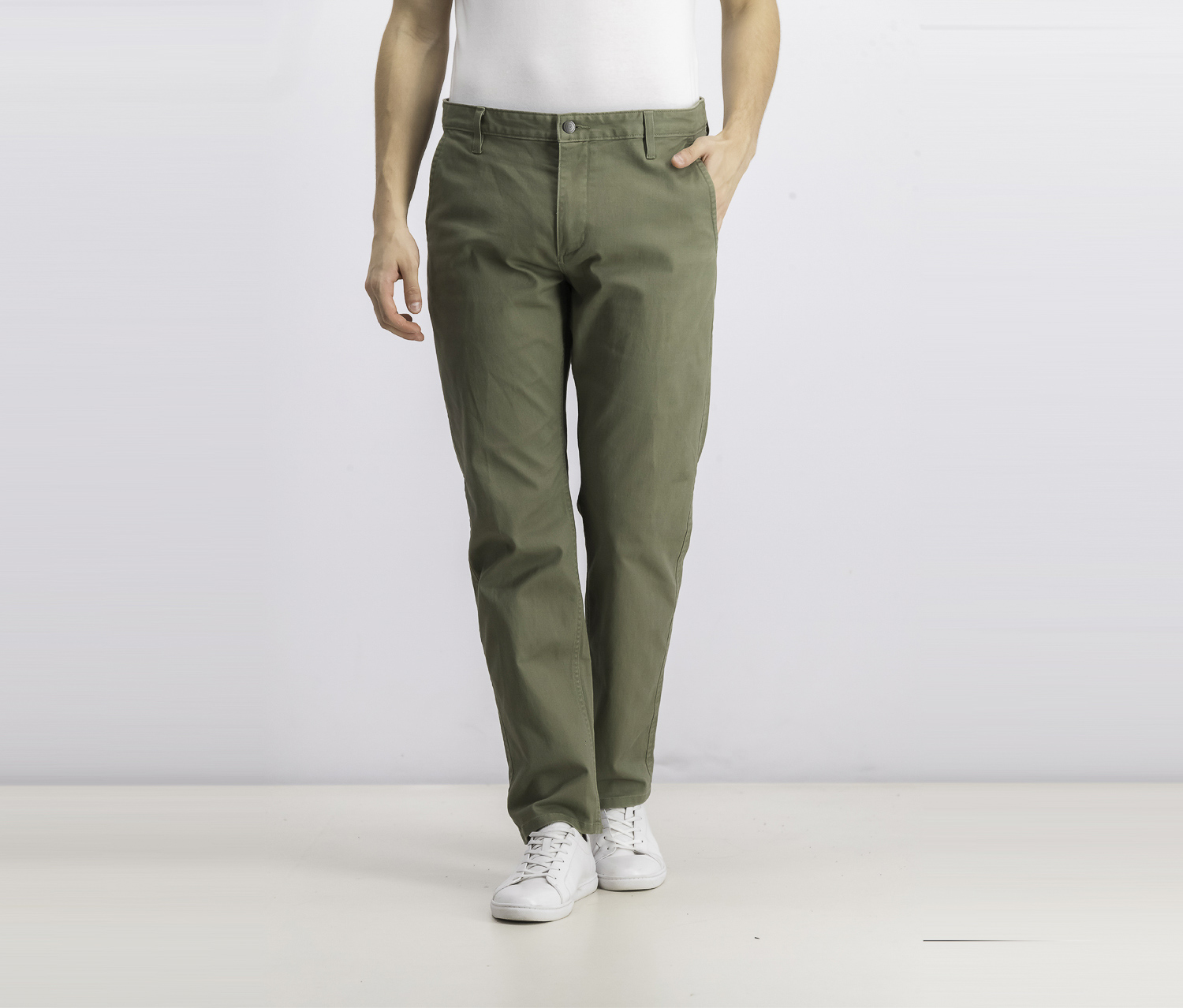 Men's All Seasons Slim-Fit Alpha Khaki Pants, Green