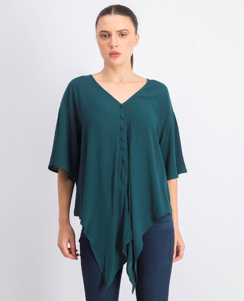 Women's Knot Hem Top, Green