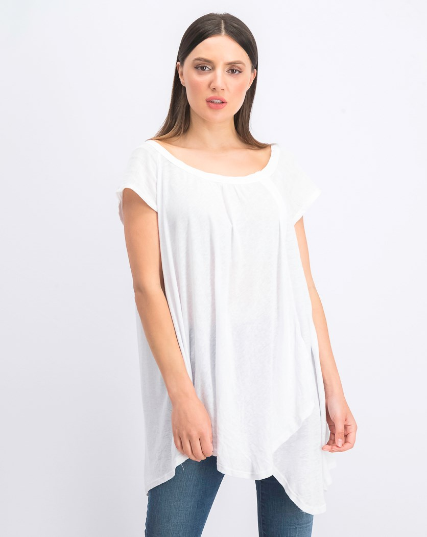 Women's Solid Casual Tee, Ivory