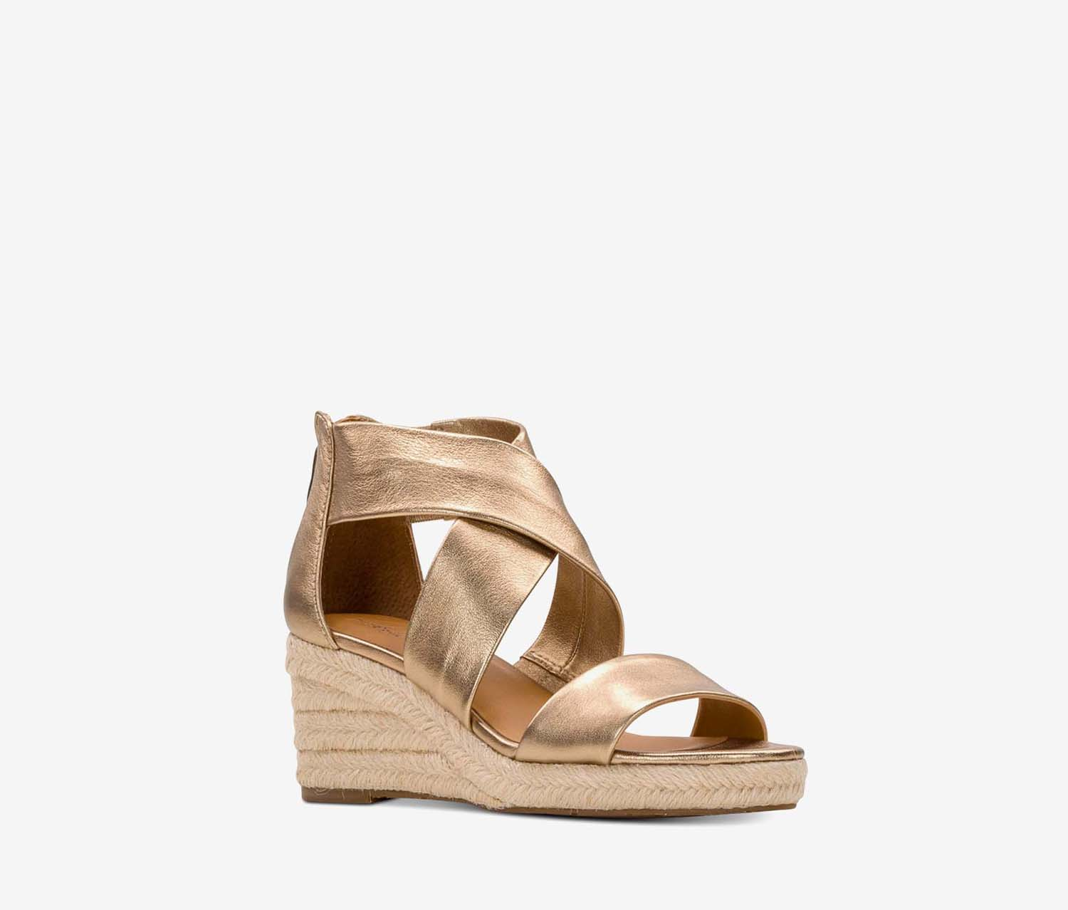 Women's Rubia Wedge Sandals, Antique Gold