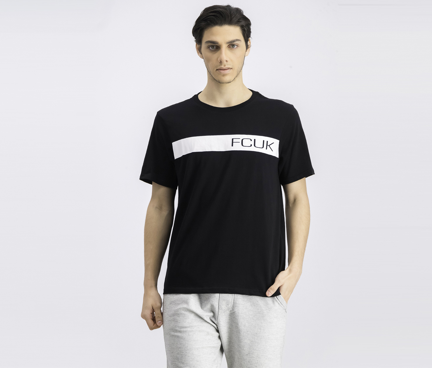 Men's Graphic Crew Neck T-Shirt, Black