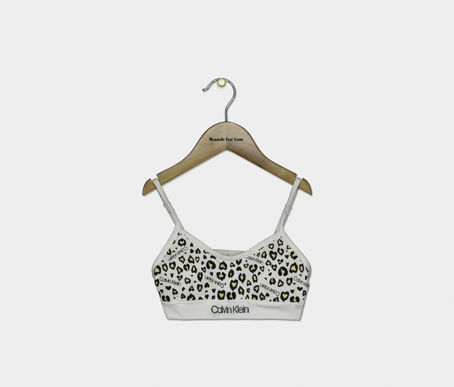 Girls Printed Ruched Seamless Crop Bra, White Combo
