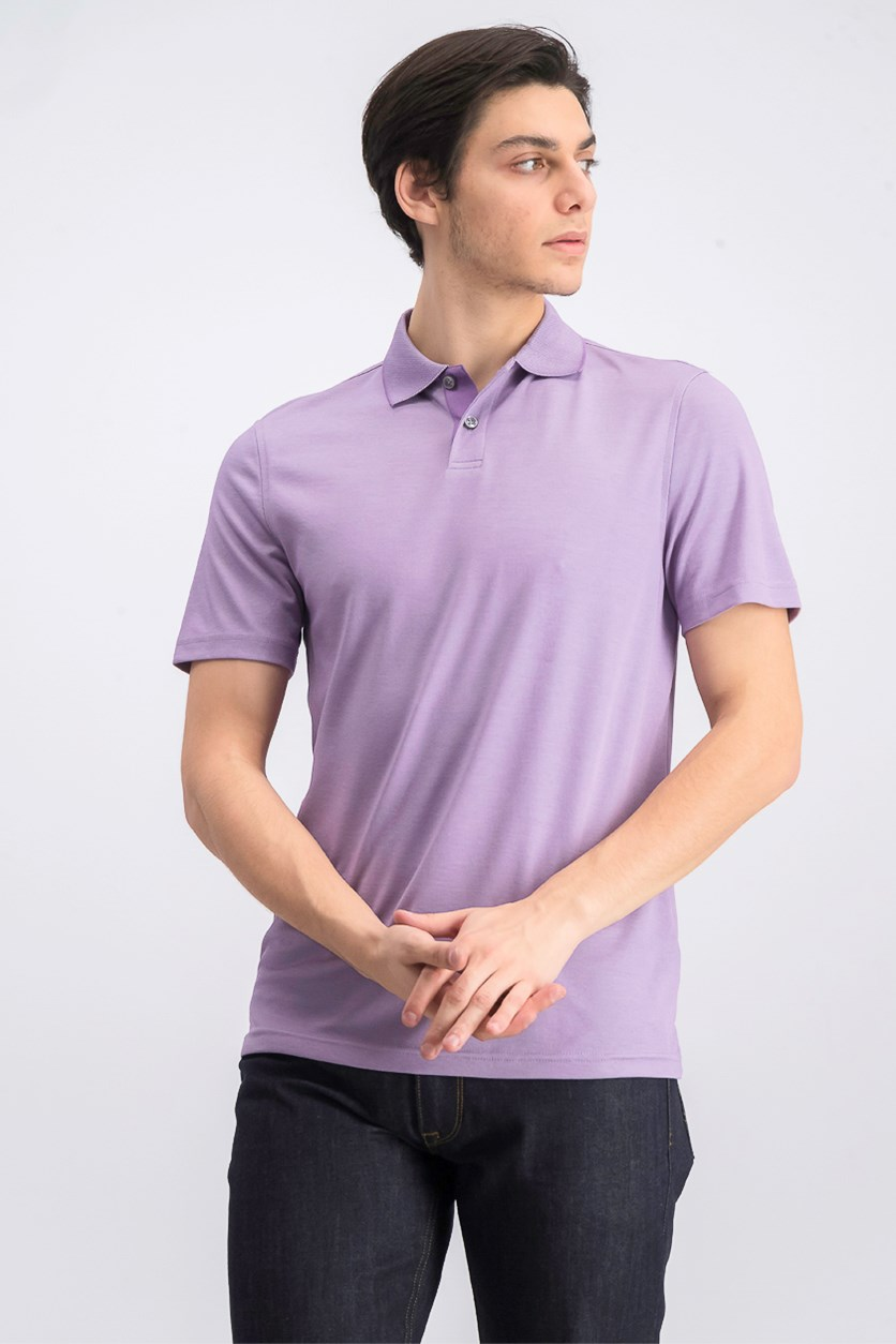 Men's Classic-Fit Supima Blend Cotton Polo, Lilac