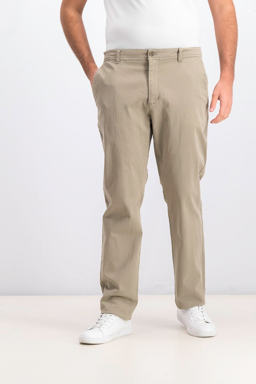 Mens Stretch Twill Pants, Olive Khaki