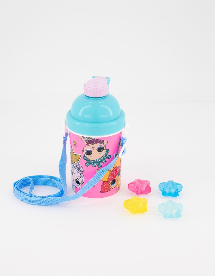 Girl's Drinkware With Reusable Ice Cubes, Pink Combo