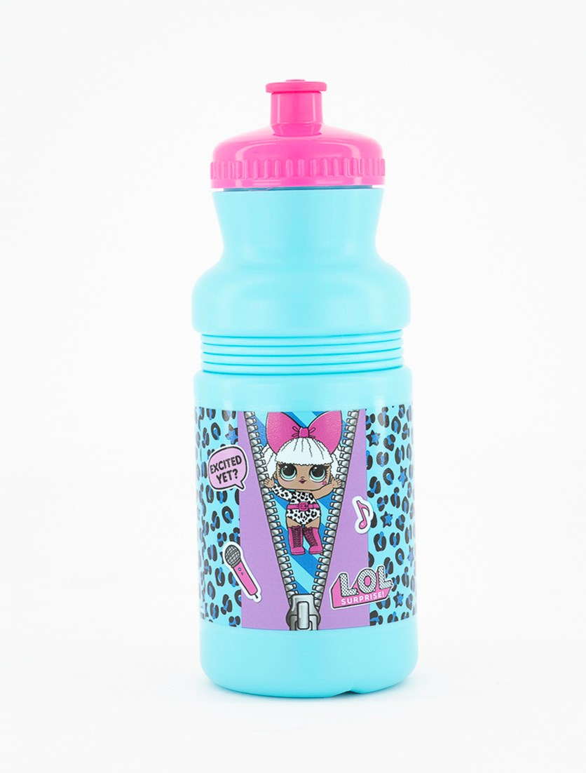 Girl's Water Bottle, Blue/Pink