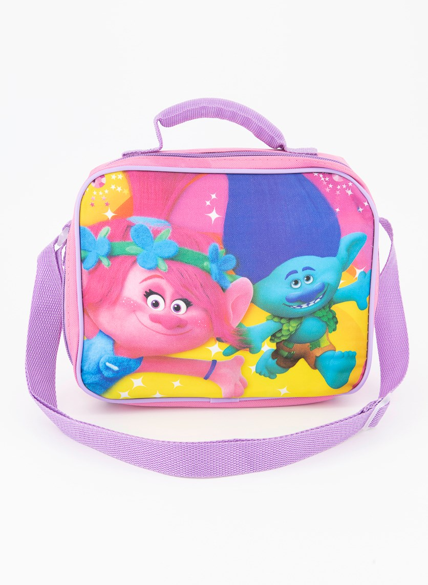 Kids Girls Trolls Lunch Box, Pink Combo