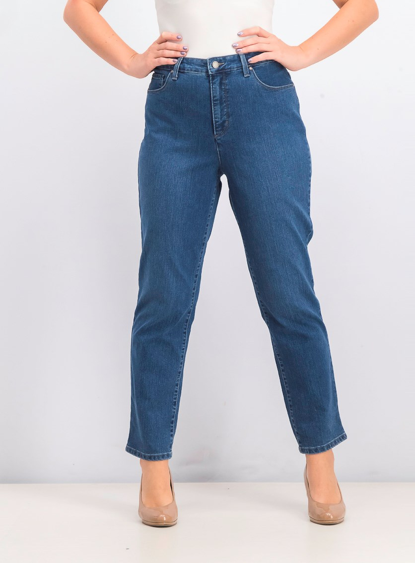 Womens Straight-Leg Jeans, Vanderbilt Wash