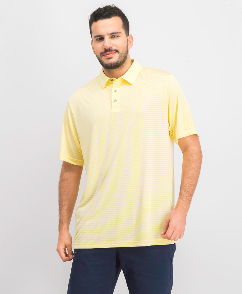 Men's Feeder Striped Polo, Yellow