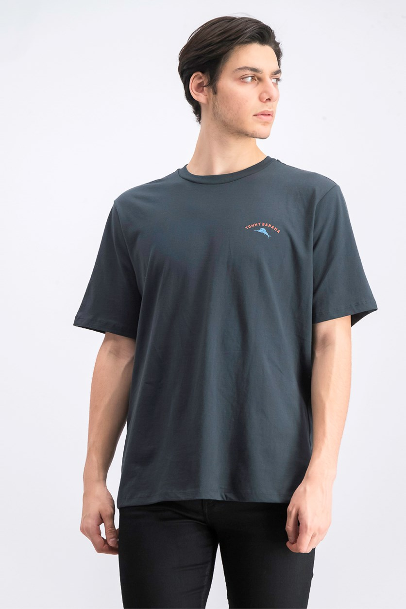 Men's Keeper of the Flame Logo Graphic T-Shirt, Coal