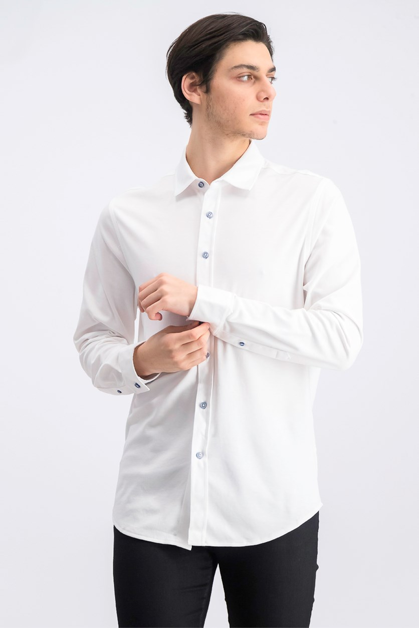 Men's Birdseye Shirt, White Pure