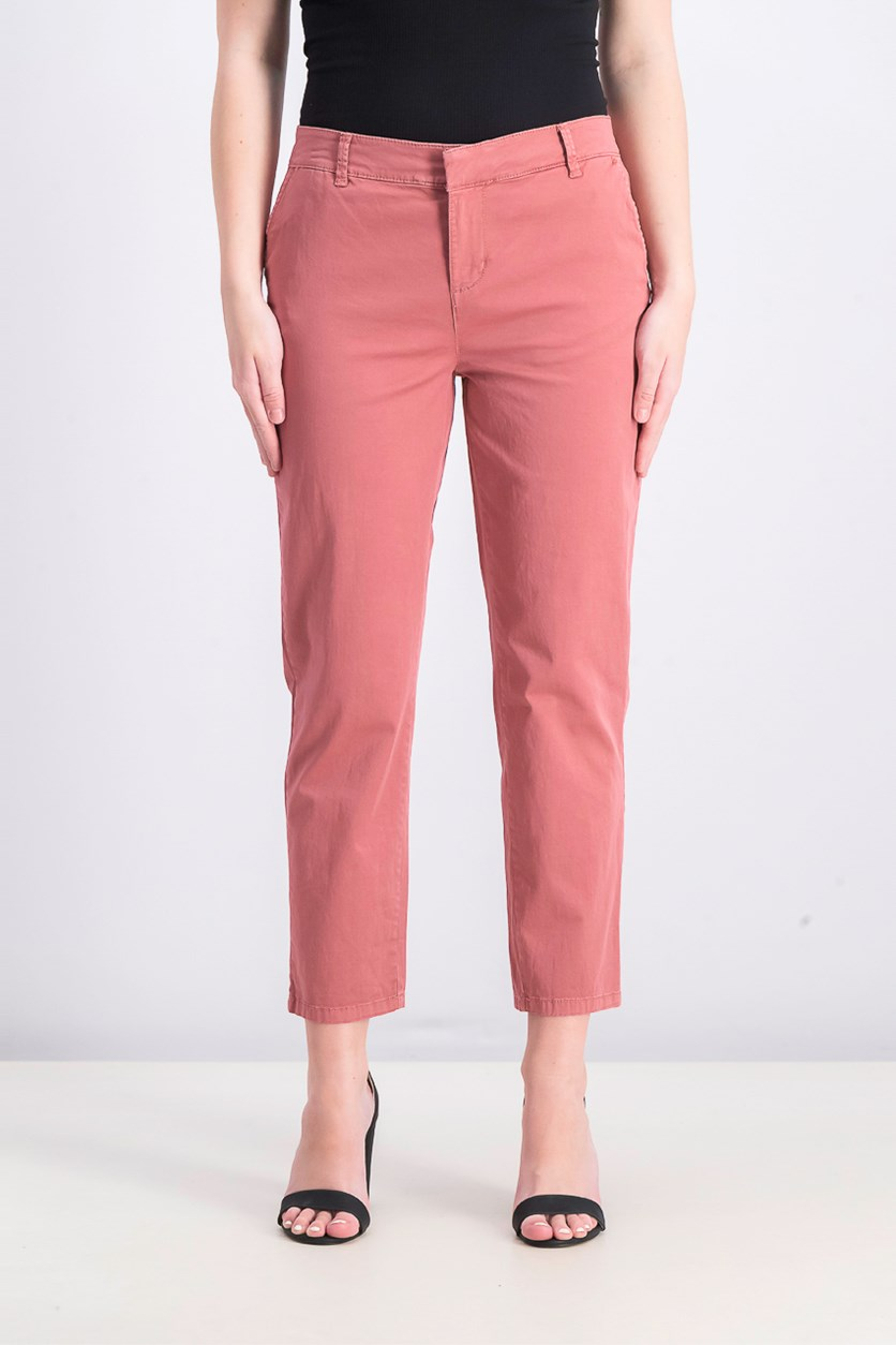 Women's Chino Pants, Red Salmon