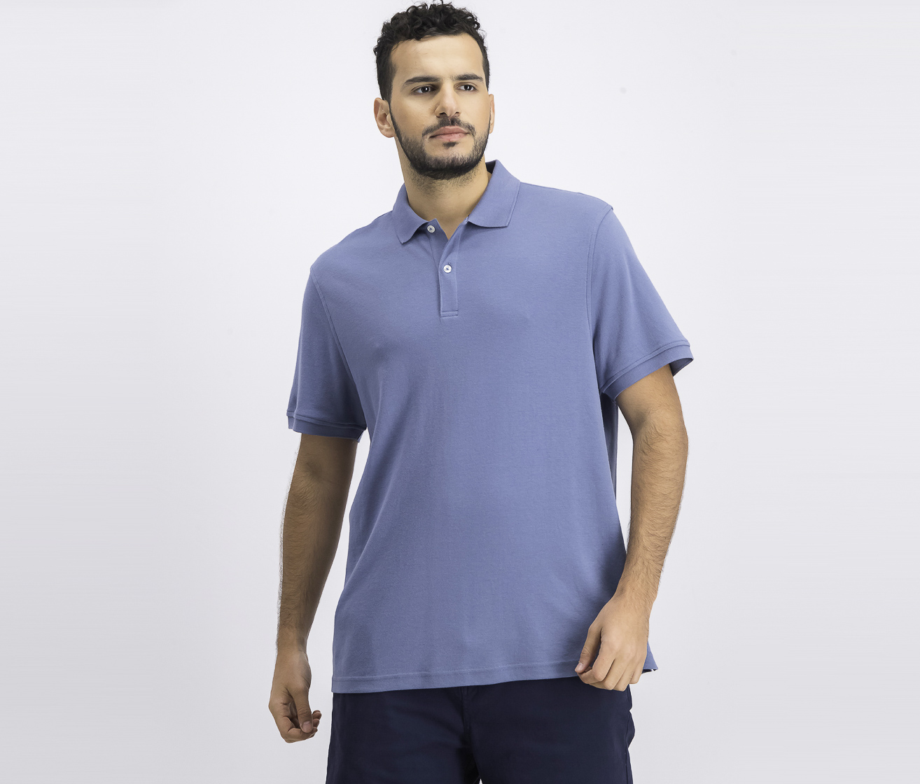 Mens Interlock Polo Shirt, Wedgewood