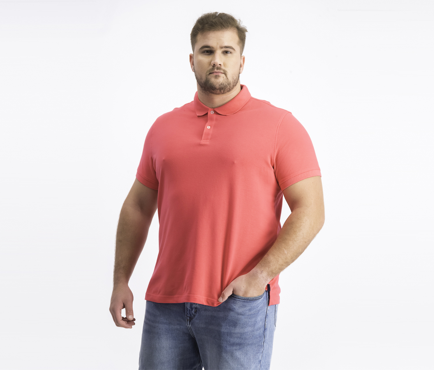 Men's Classic Fit Performance Pique Polo, Radiant Rose