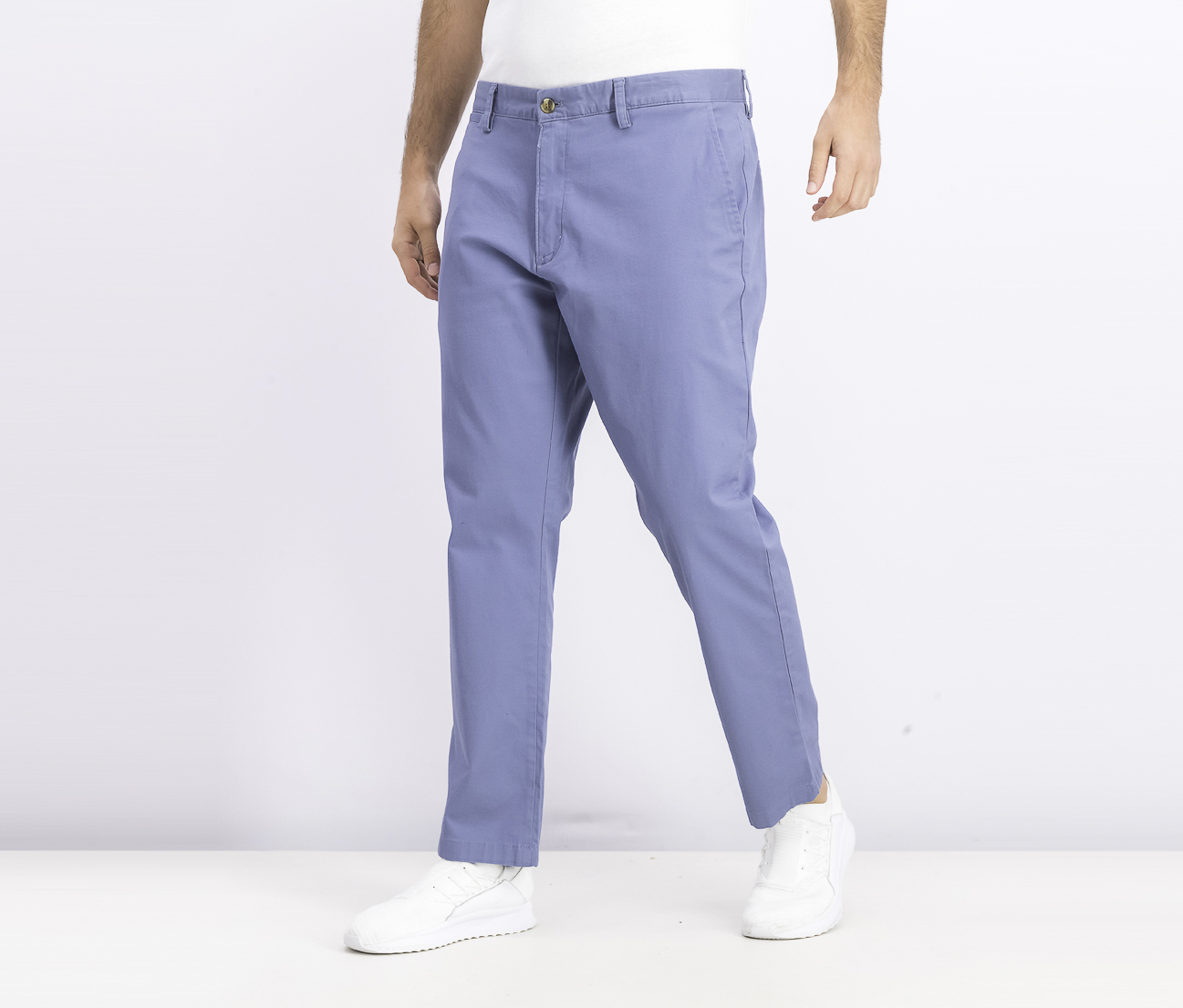 Men's Stretch Chinos, Wedgwood Blue