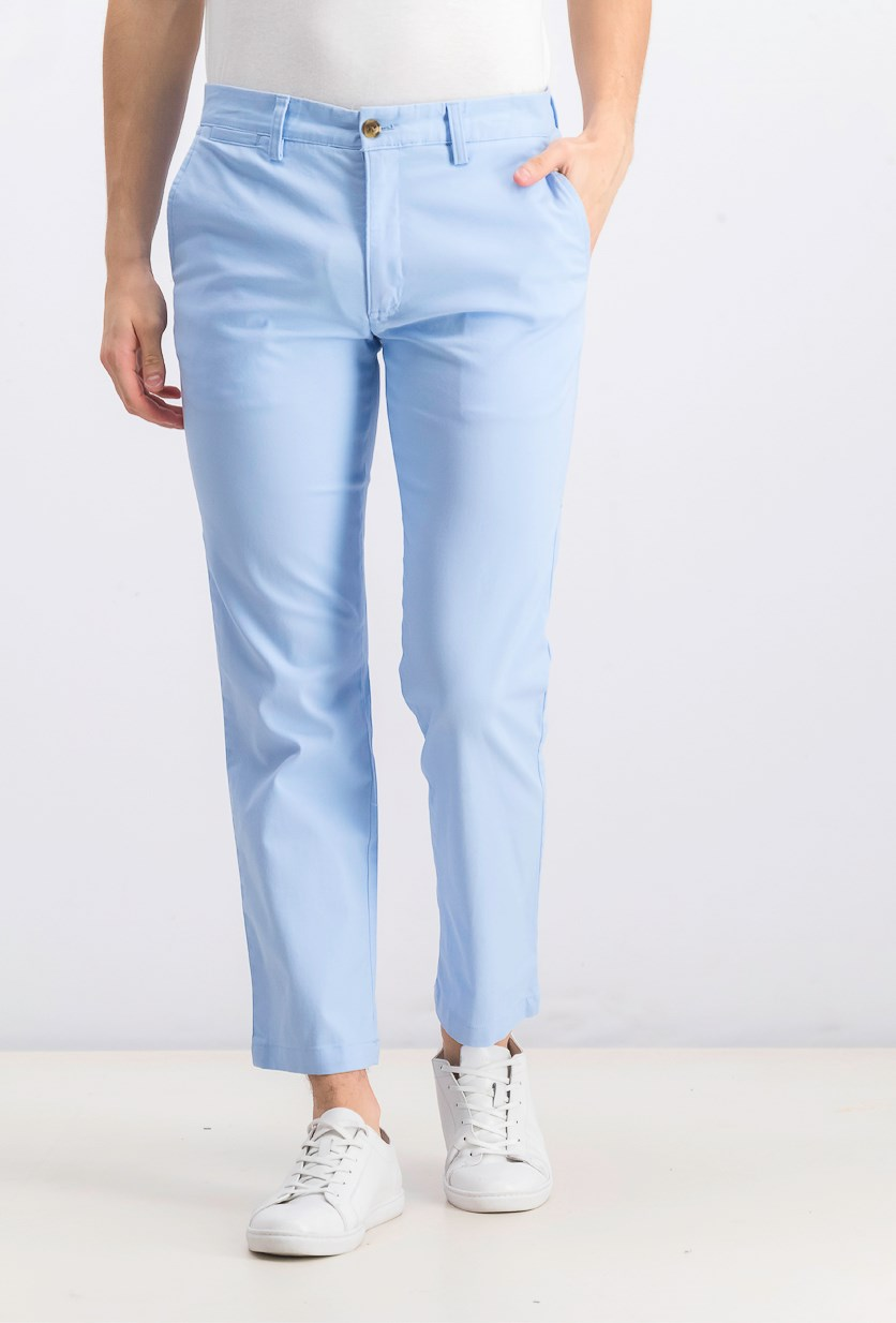 Men's Stretch Chino Pants, Pale Ink Blue