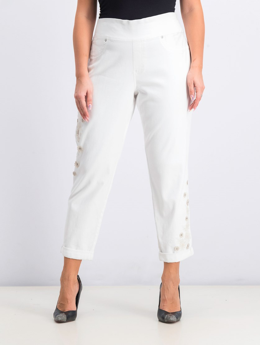 Women's Darling Daisy Boyfriend Jeans, Bright White
