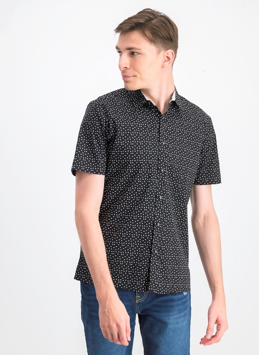 Men's Owens Printed Shirt, Black Combo