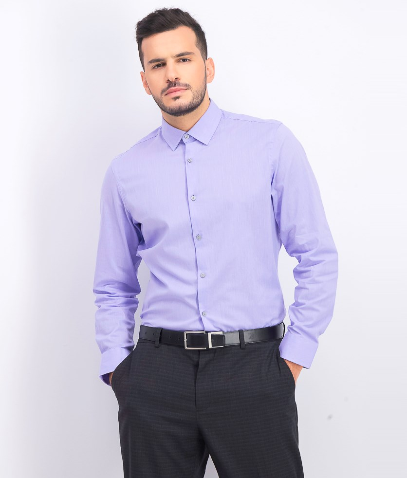 Men's Stretch Modern Solid Shirt, Lavender