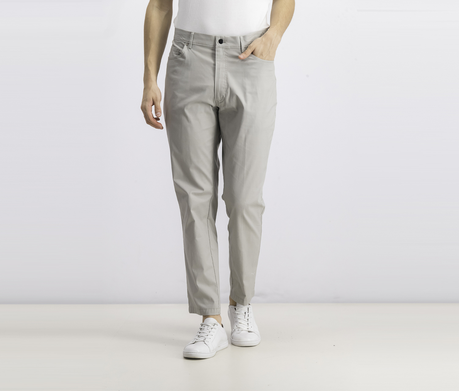 Men's Five-Pocket Performance Pants, Grey