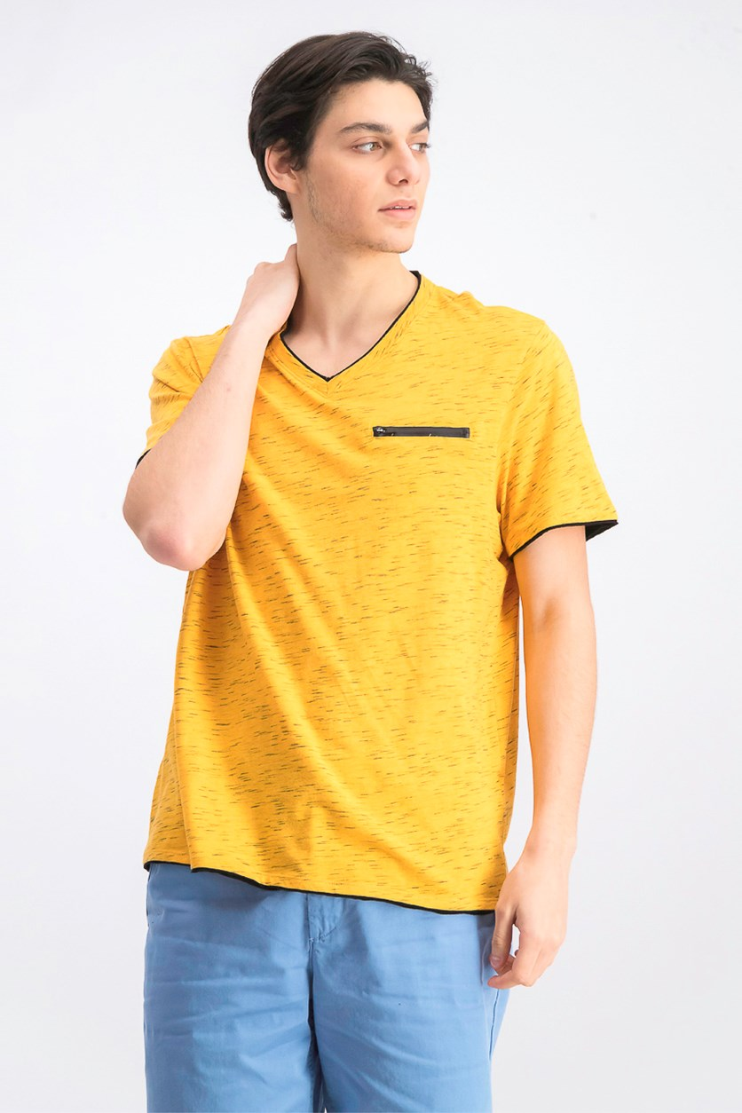 Men's V-Neck T-Shirt, Sparkling Sun