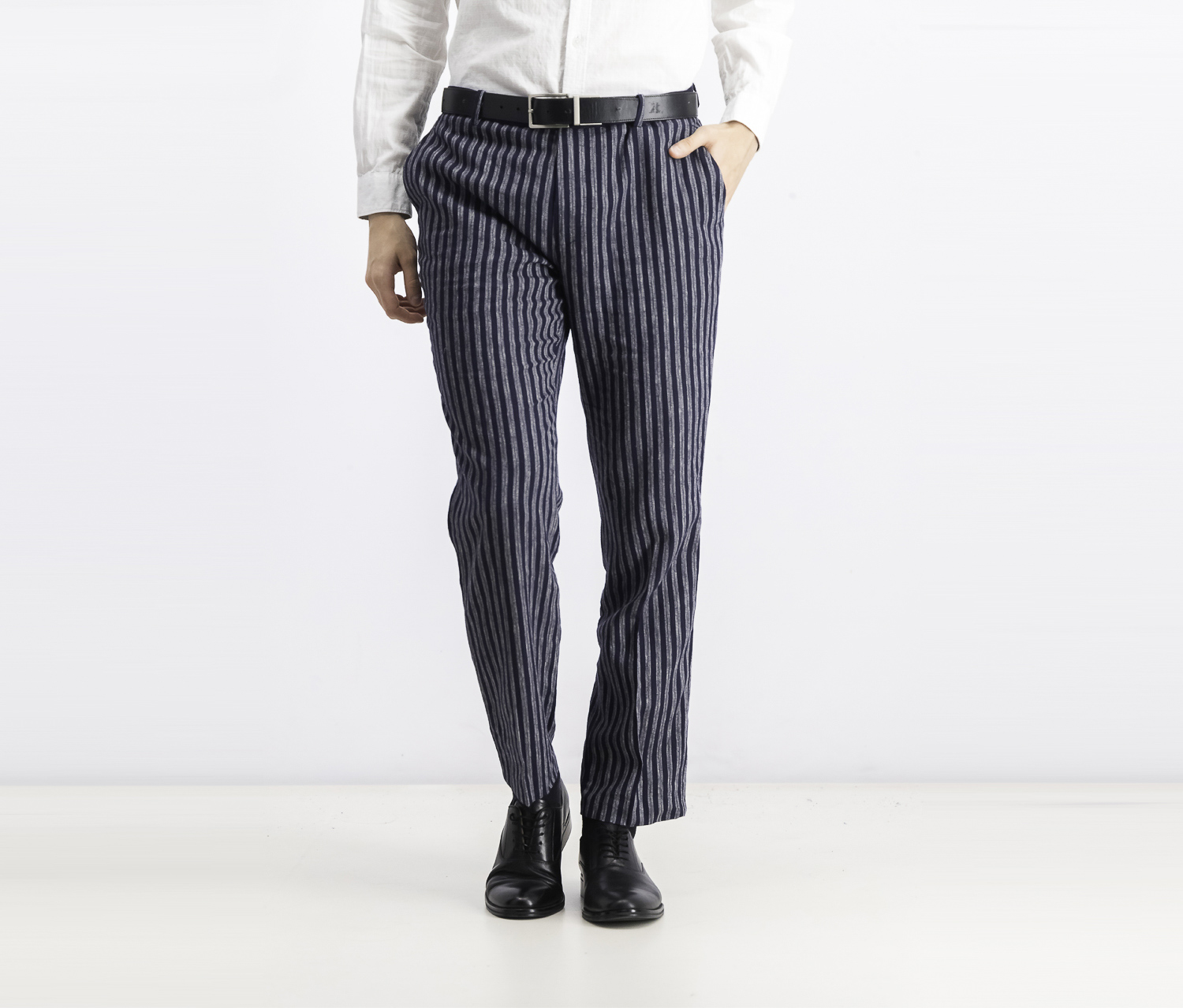 Men's Slim Stripe Pants, Navy Combo