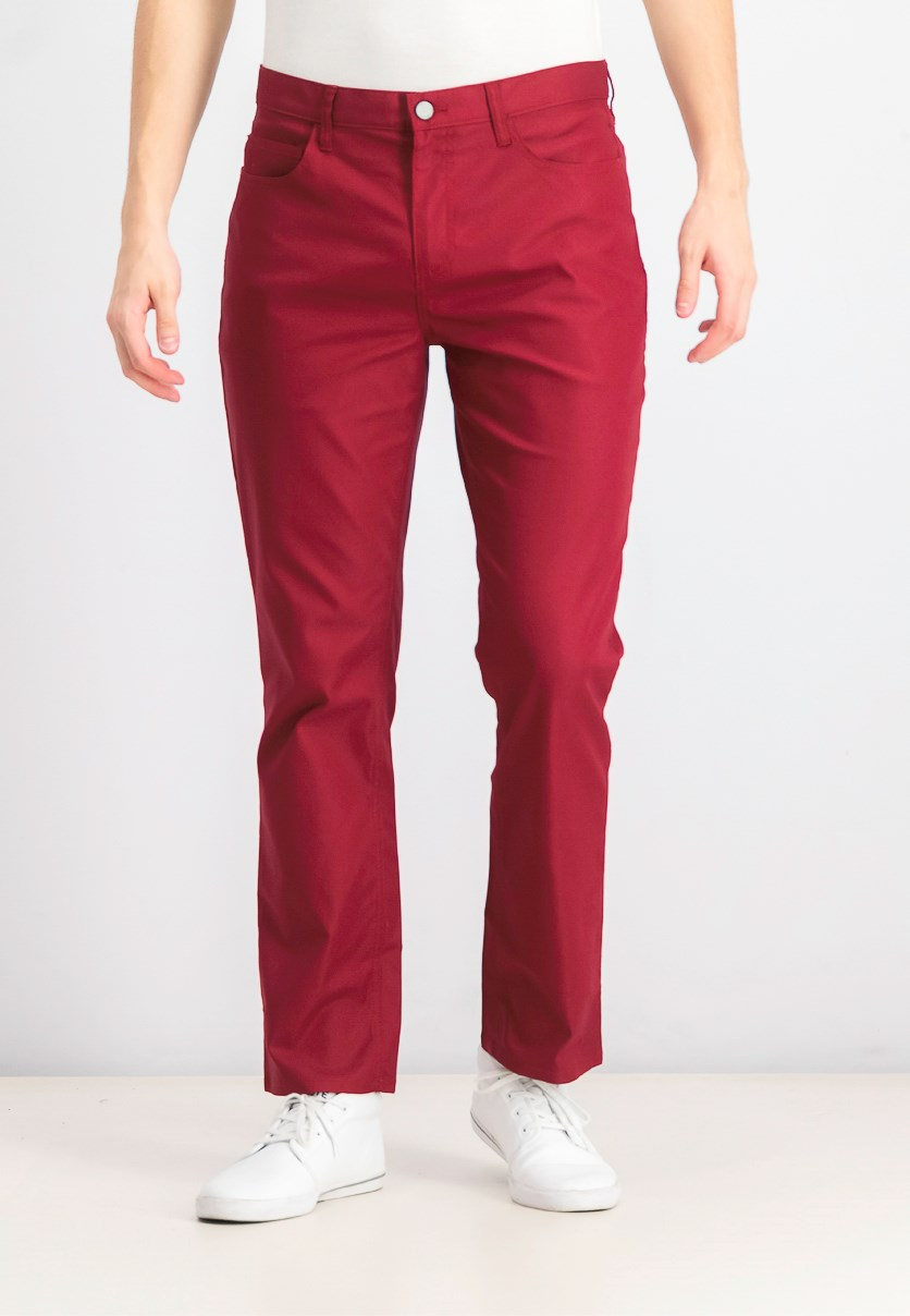 Men's Textured Pants, Maroon