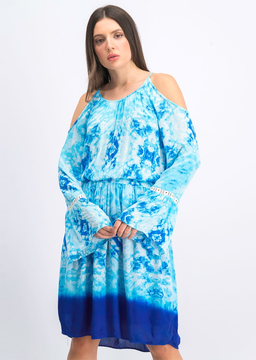 Women's Tie Dye Gauze Dress, Tie Dye Galaxy