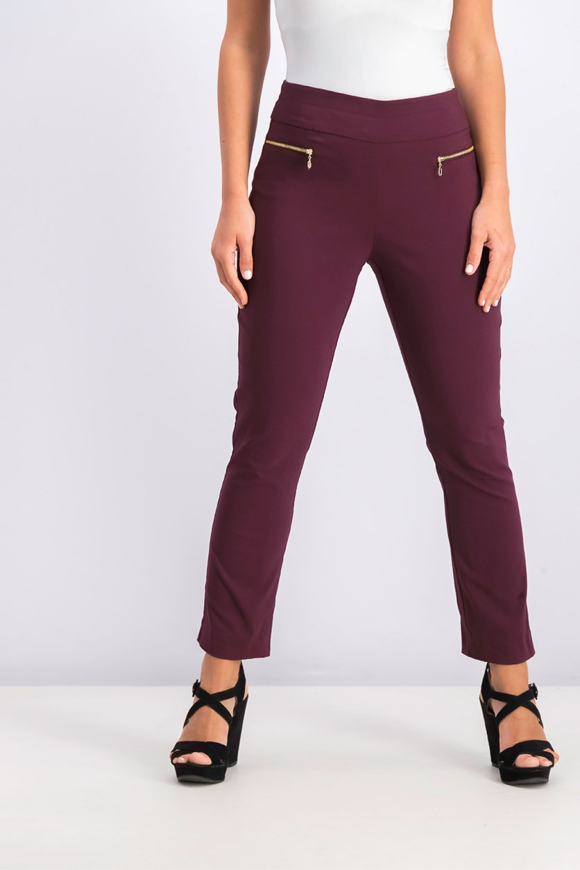 Women's Pull-On Skinny Capris, Port
