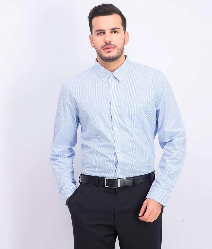 Men's Extra-Fine Cotton Slim-Fit Shirt, Cold Lake