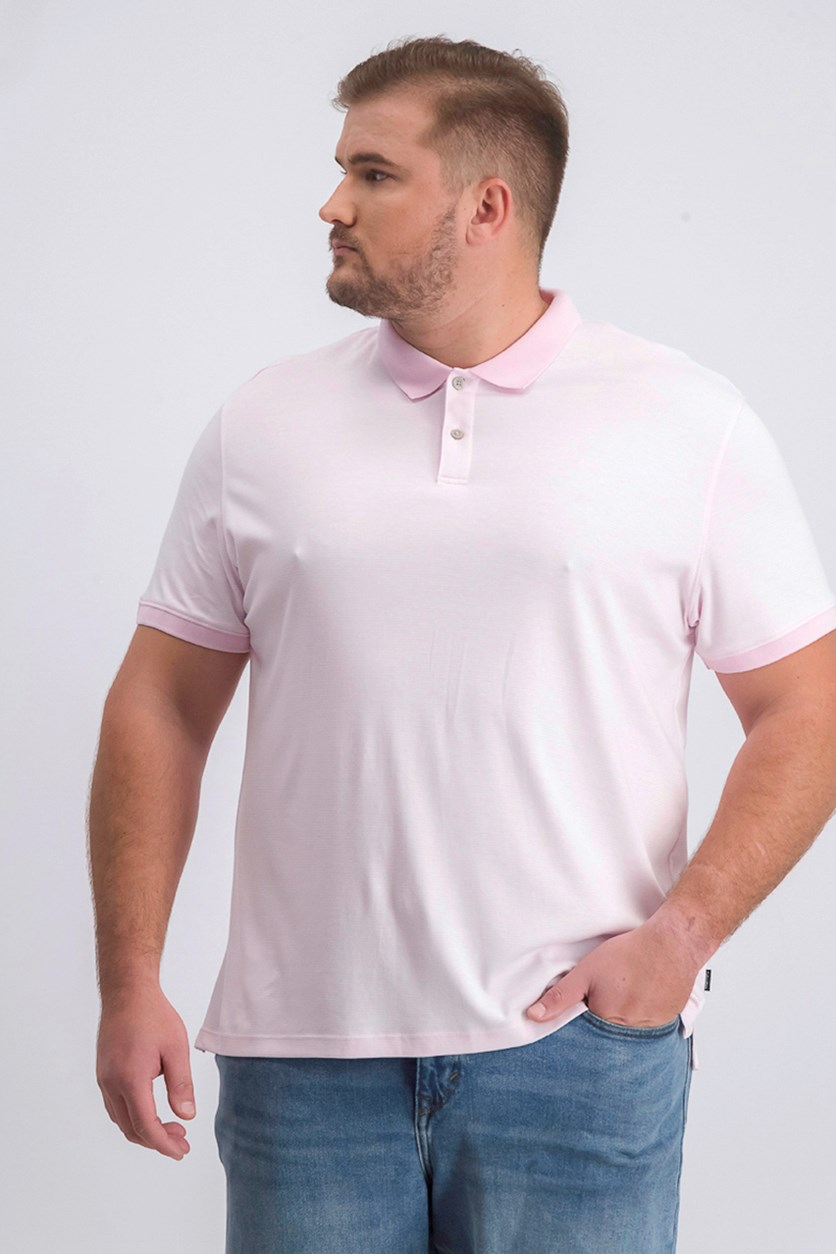Men's Contrast Tipped Polo, Plush Pink