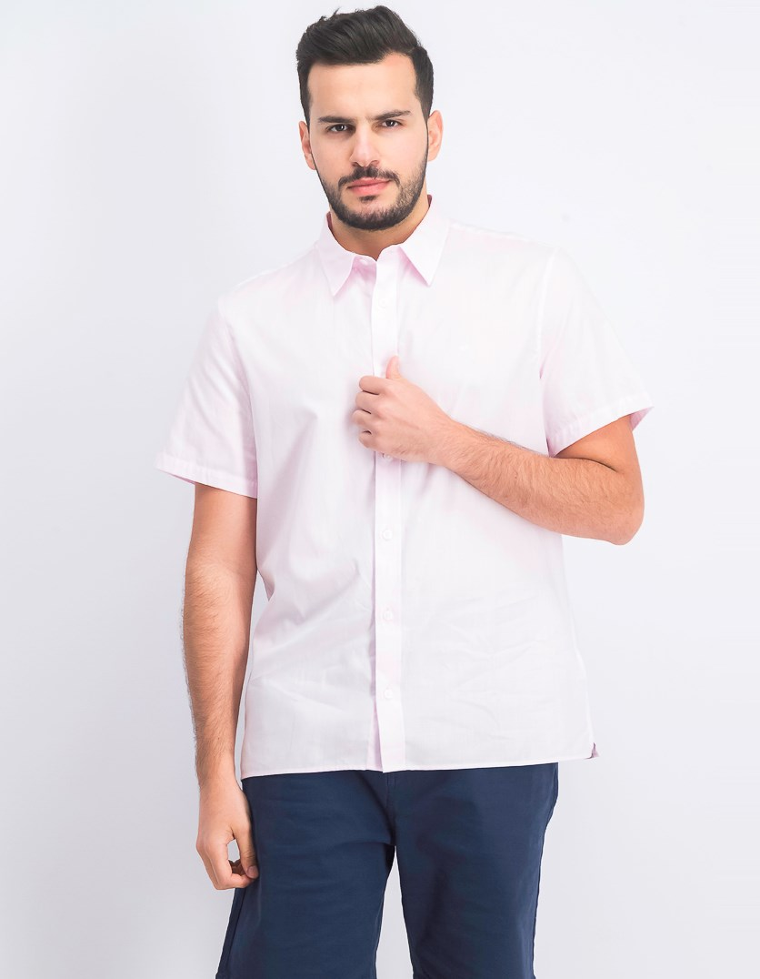 Men's Herringbone Shirt, Plush Pink