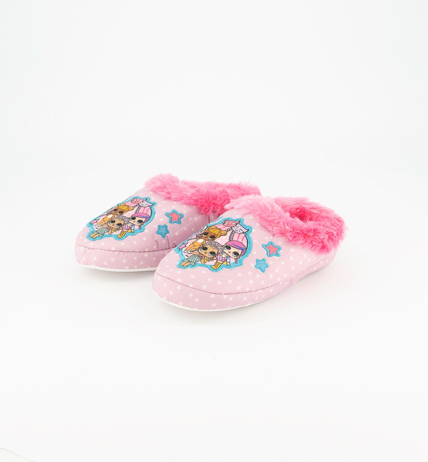Girl's Printed Slippers, Pink
