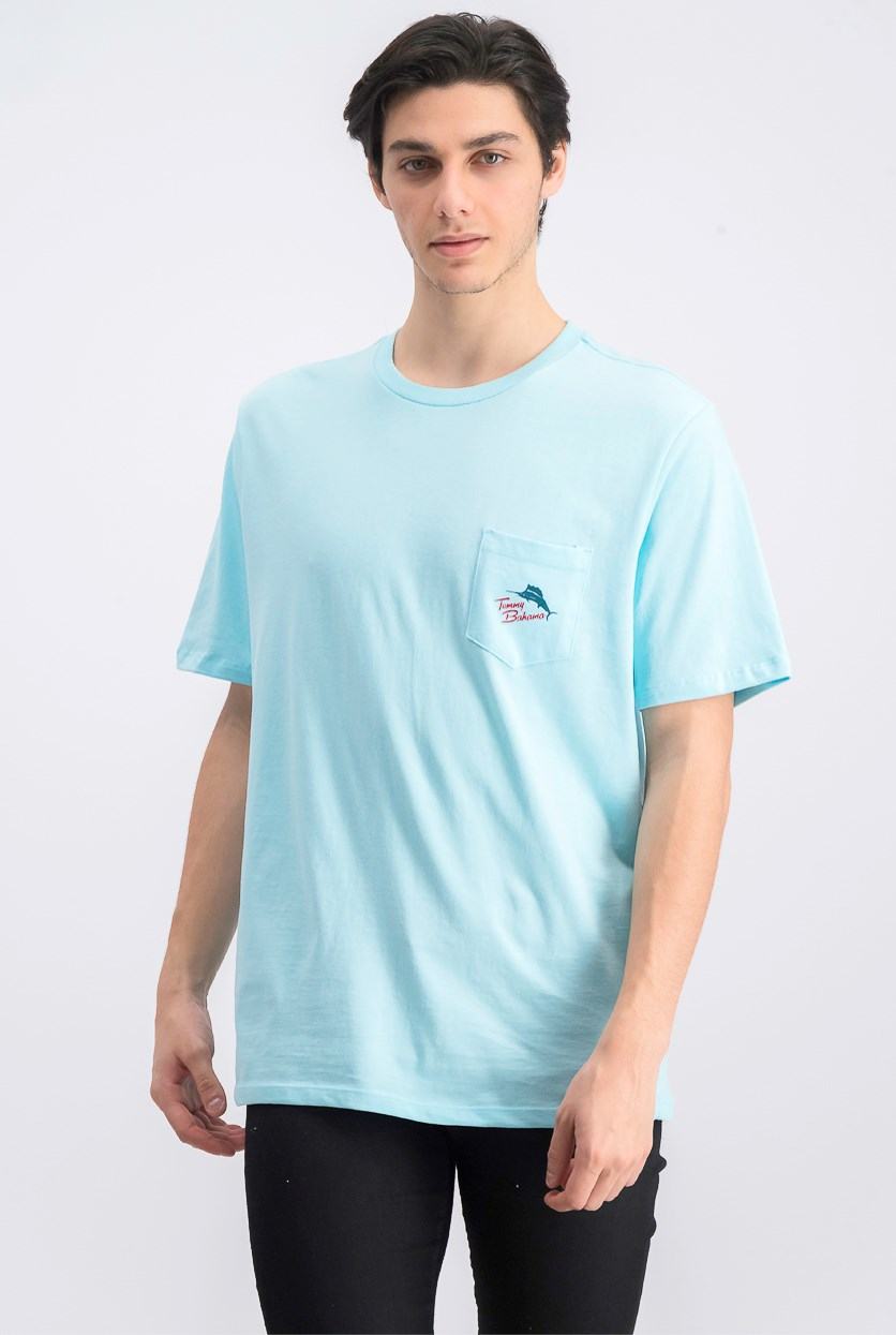 Men's Wheel Deal Graphic T-Shirt, Sea Sprite Blue