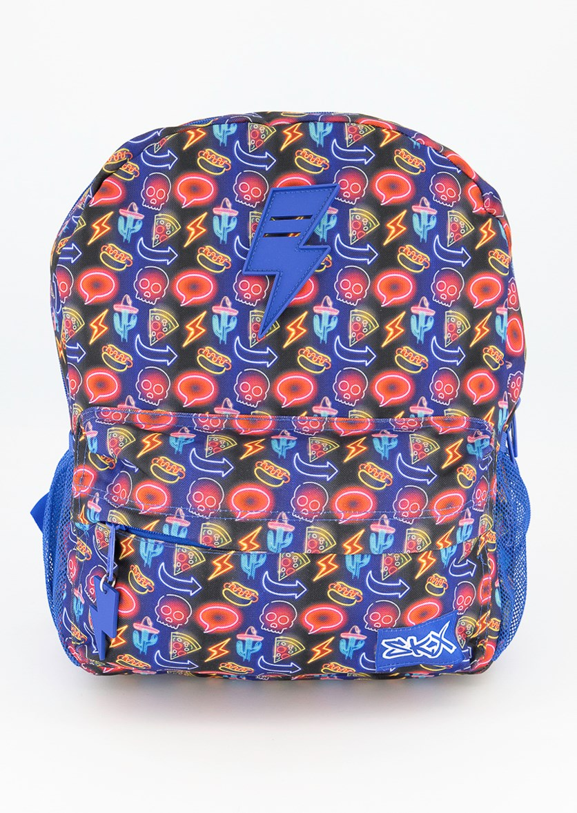 Twinkle Toes Backpack Desert Party, Blue Combo