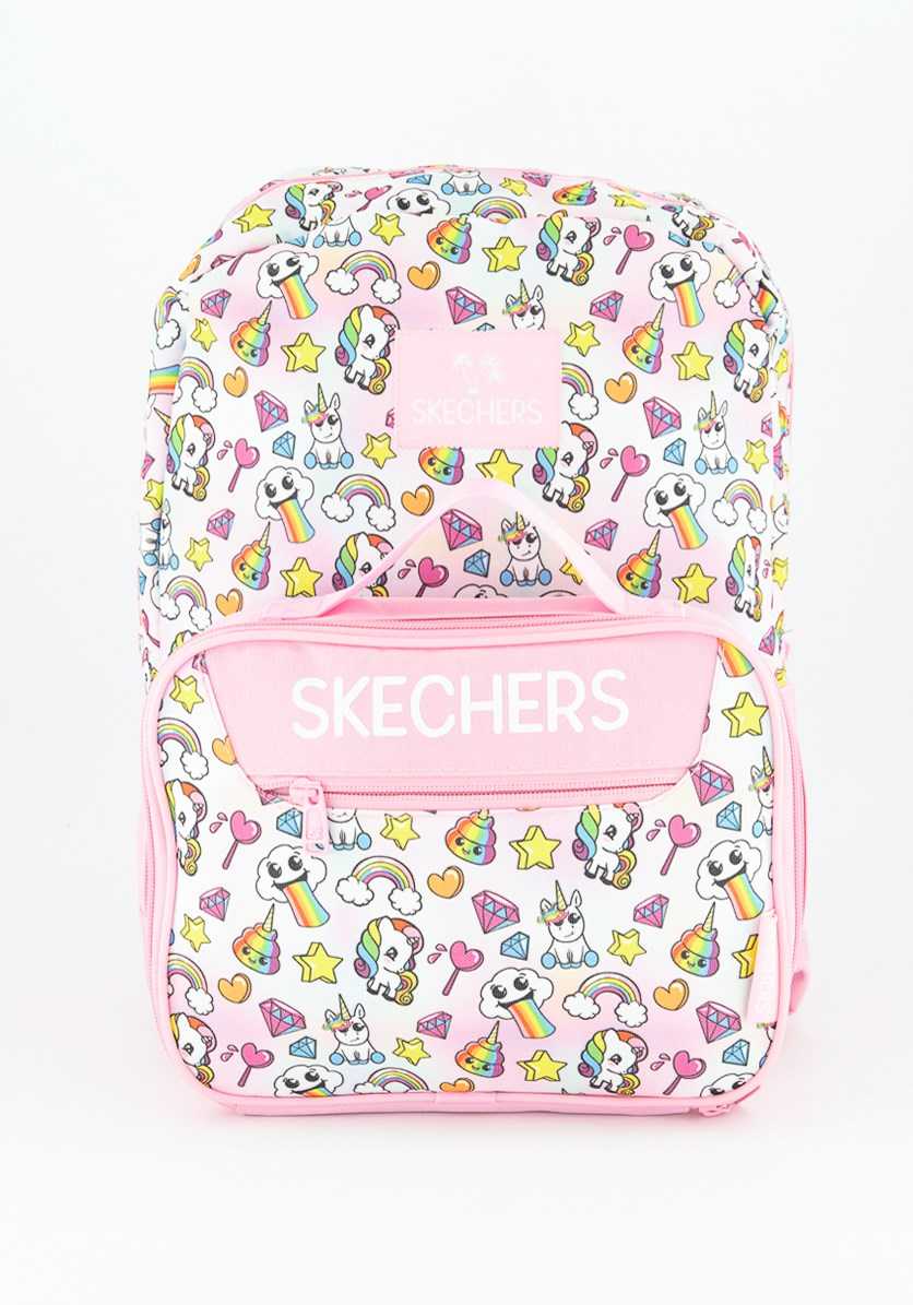 Girls Unicorn Backpack and Lunch Bag, Light Pink