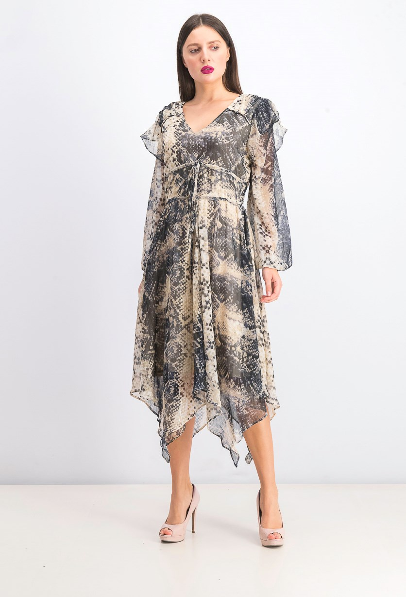 Women's Angelo Dress, Snake Lurex