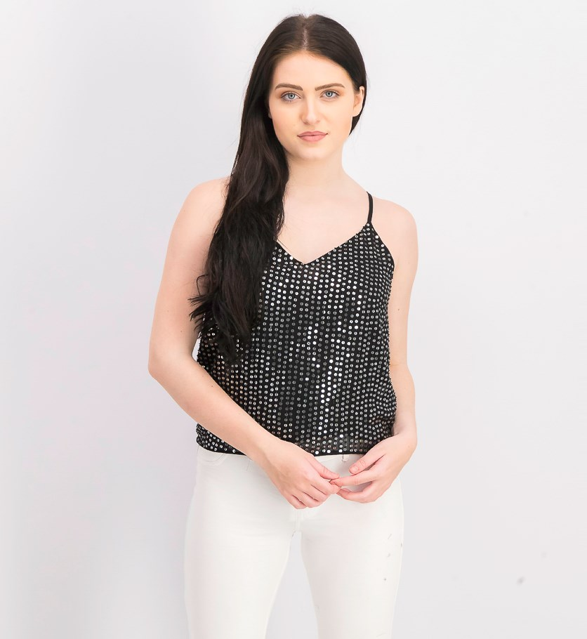 Women's Hal Top, Black/Silver