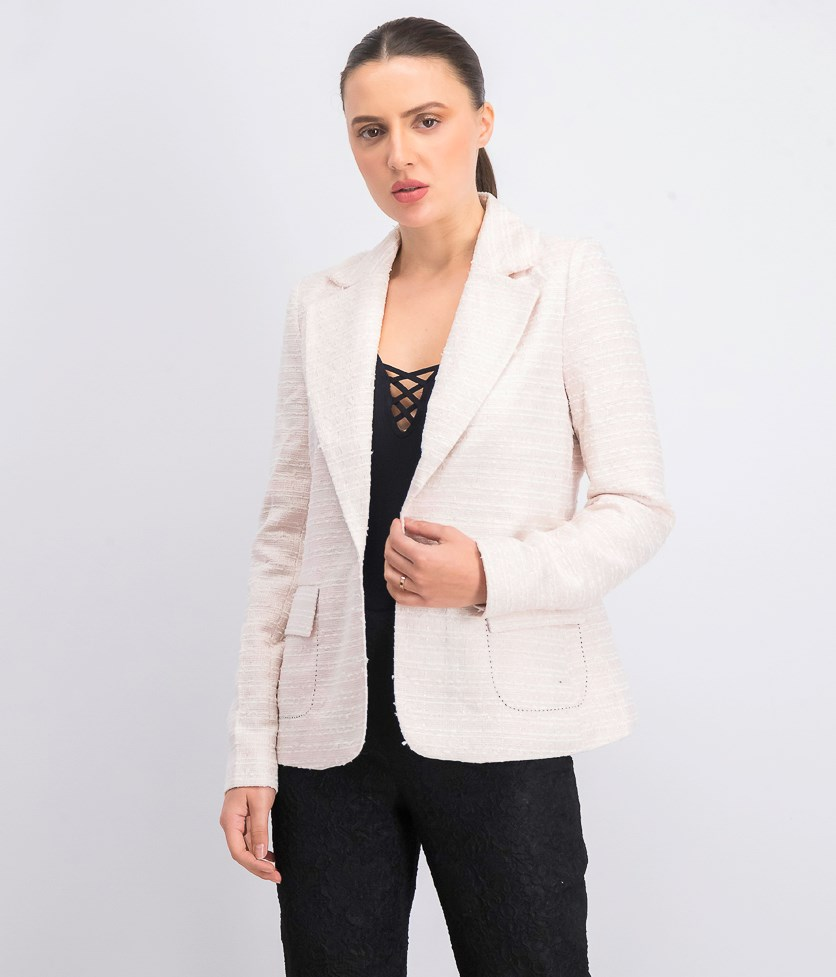Women's Kari Jacket Blazer, Pink/Gold