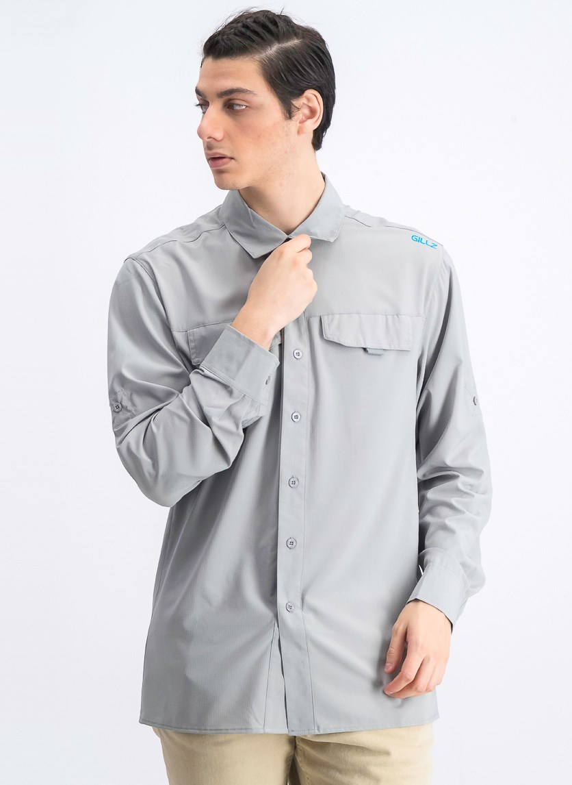 Men's Elite Angler Shirt, Grey