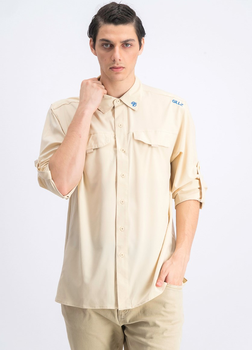 Men's Elite Angler Shirt, Tan