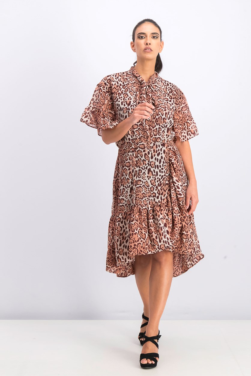 Women's Lucien Dress, Dusty Leopard