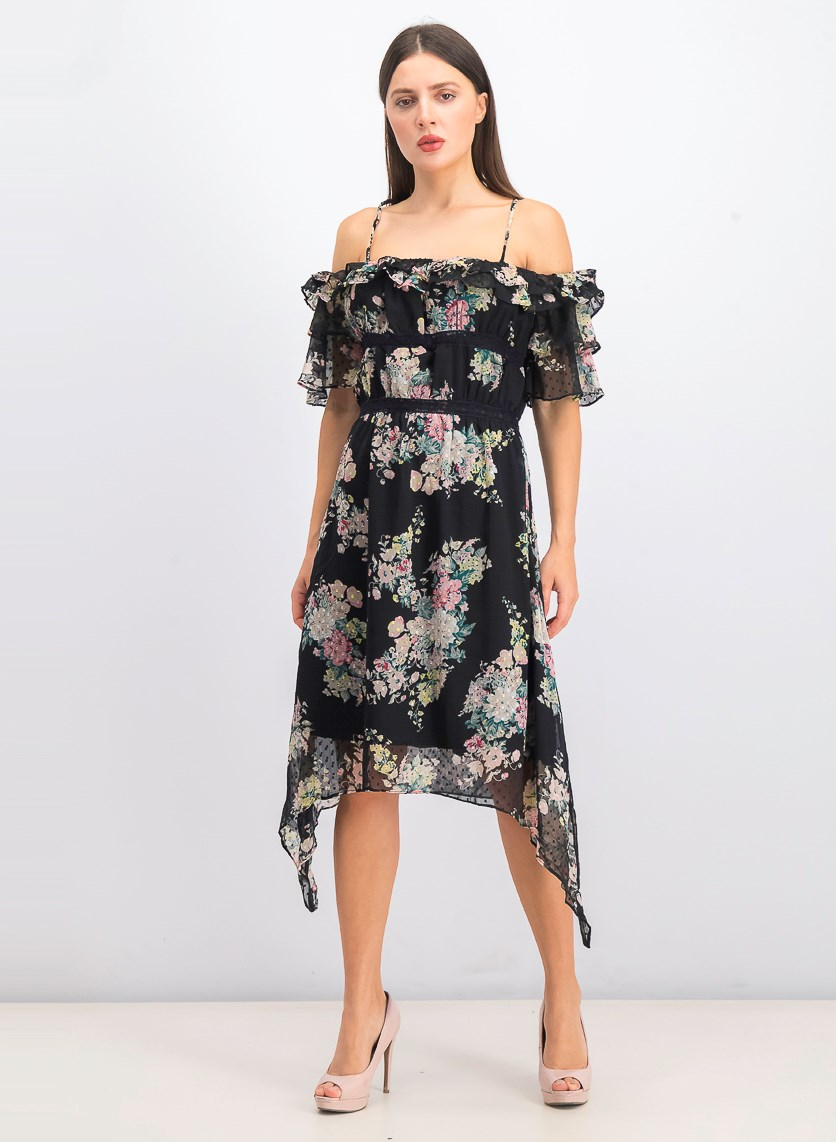 Women's Hansen Dress, Summer Night Floral