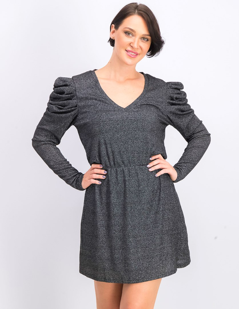 Women's Oakes Mini Dress, Black Sparkle