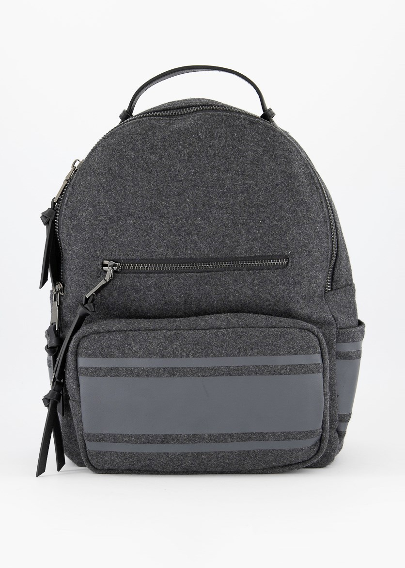 Felt PU Backpack, Charcoal