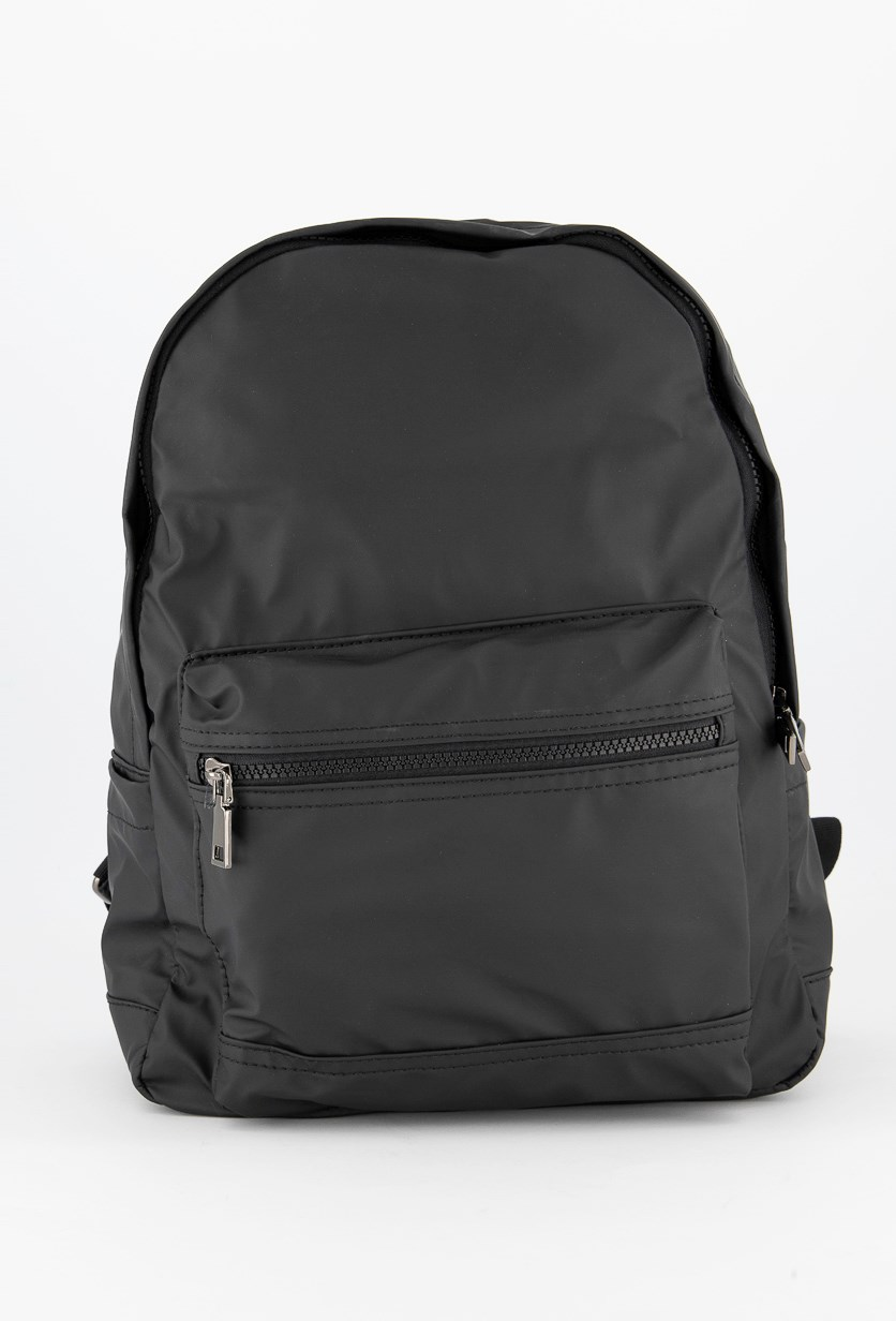 Men's Nylon Backpack, Charcoal Grey