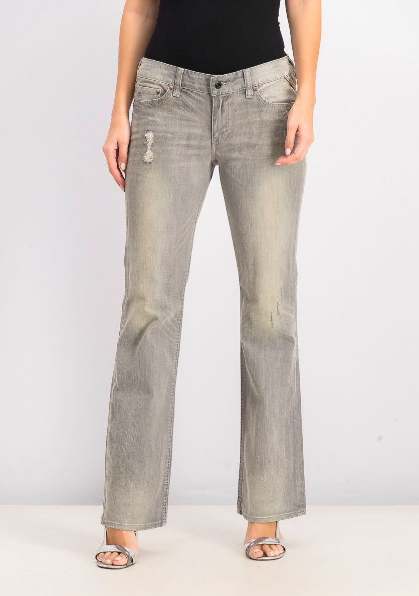 Women's Rider Boot Jeans, London Grey